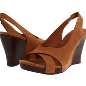 UGG Hazel II Suede Wedge Slingback Shoes